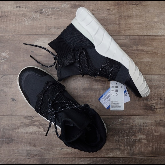 adidas tubular x black white
